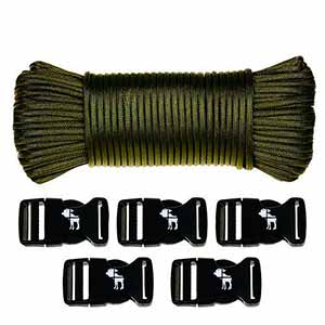 Kit Paracord 33 metros y 5 Hebillas