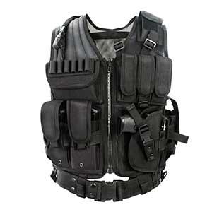 YAKEDA chaleco de policía - militar Negro