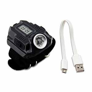 Reloj de pulsera con linterna LED recargable